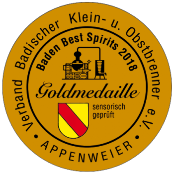 Baden Best Spirits 2018 Goldmedaille